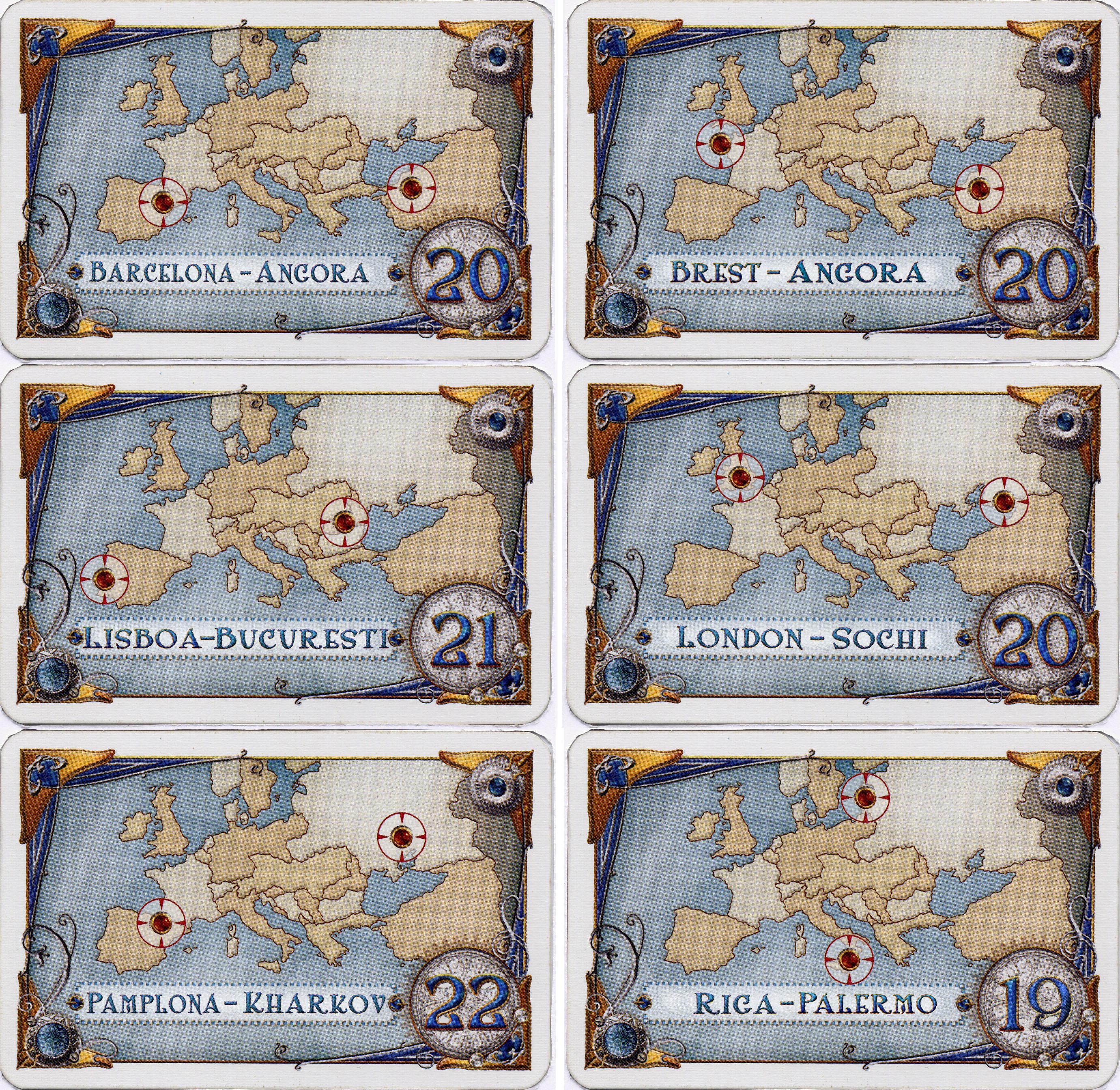 Nouvelles cartes pour Les Aventuriers du Rail   Europe